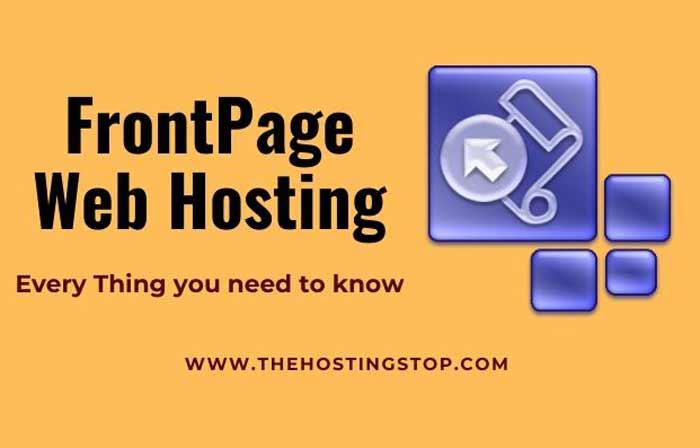 Frontpage web hosting