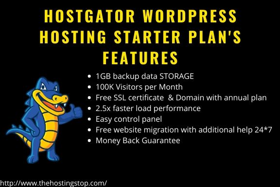 Hostgator wordpress hosting features