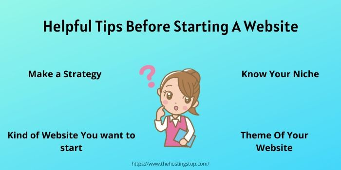 tips for starting a website