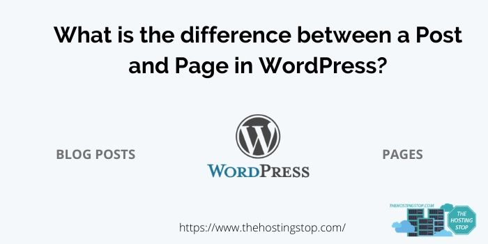 difference between a Post and Page in WordPress_
