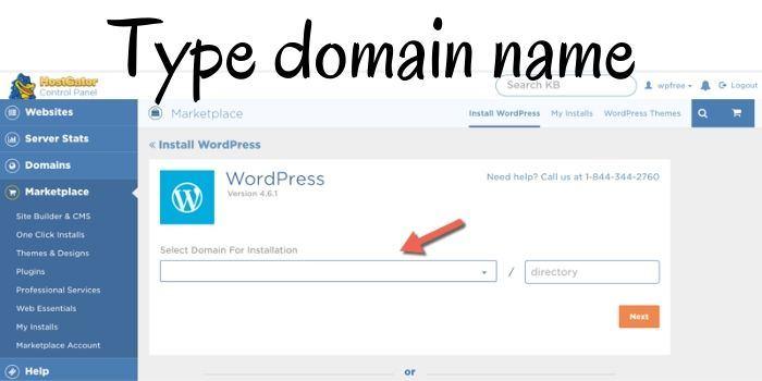 Hostgator Free WordPress Install