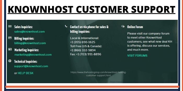 Kownhost Hosting Customer Support