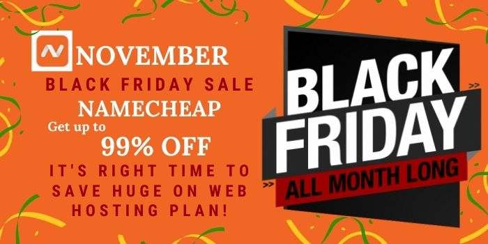 Namecheap Black Friday Sale